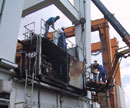 Diak engineers dismantling a fire damaged powerhouse